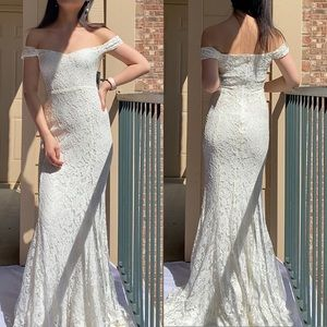 NWT Reformation Freesia White Lace Wedding Gown 2P
